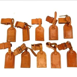 Louis Vuitton Leather Luggage Tag ID: **Set of 10